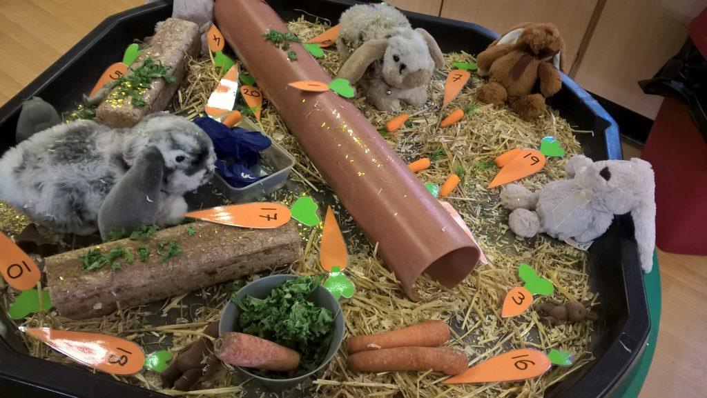 Bunnies table play