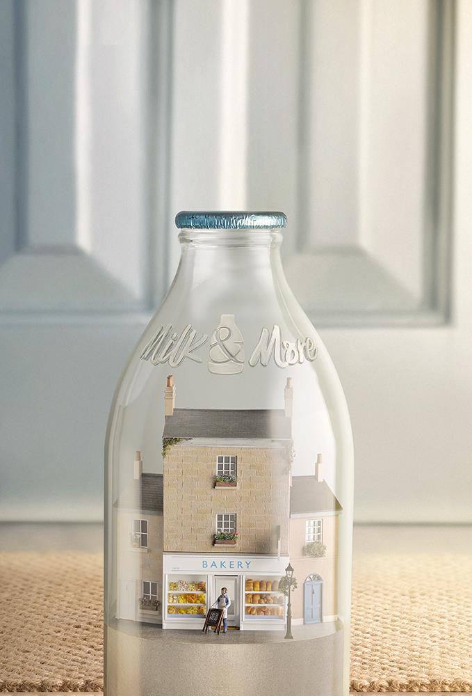 texturing SLS models - bakery model for Milk & More